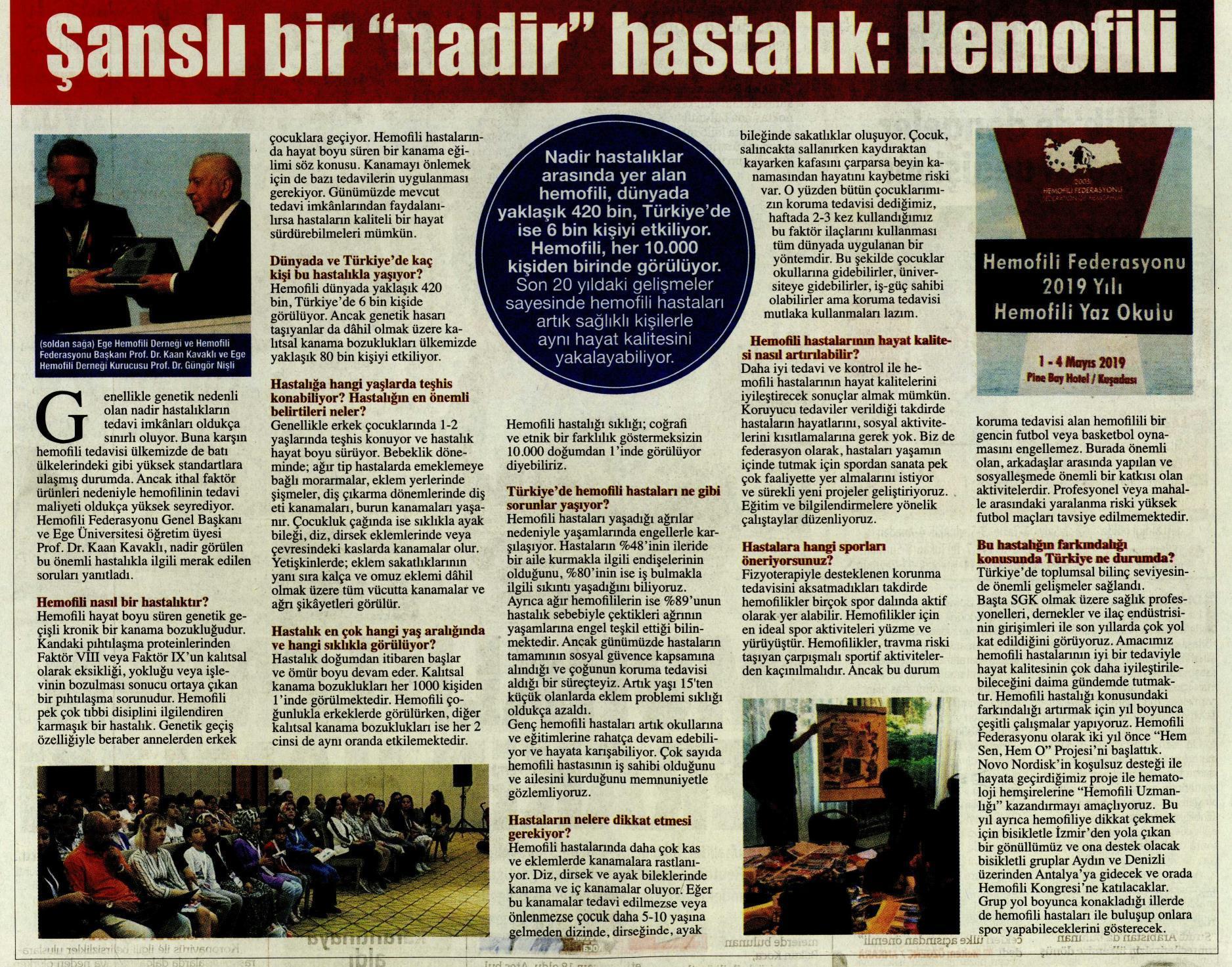 Hürriyet - Şanslı bir nadir hastalık: Hemofili